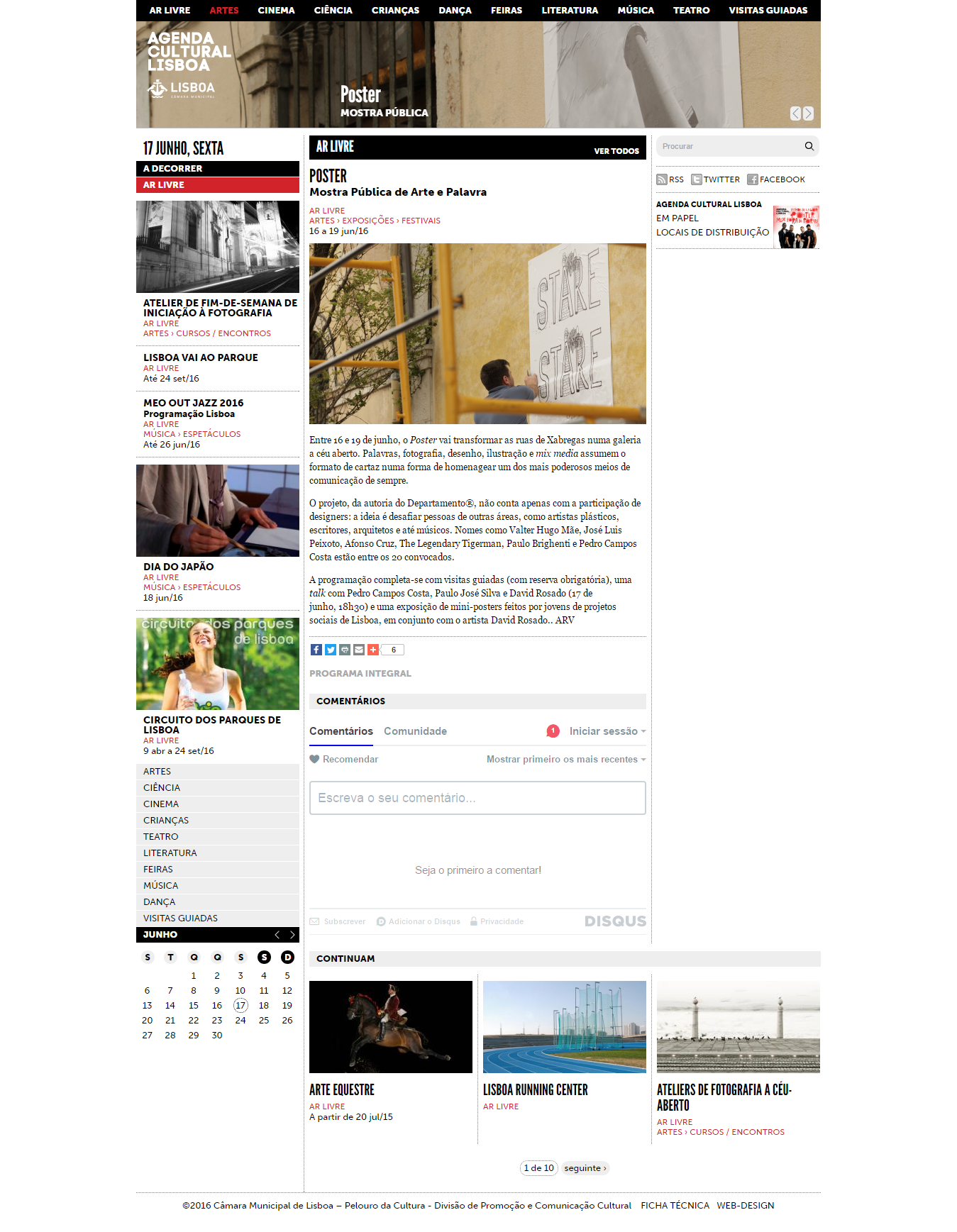 POSTER agenda cultural online